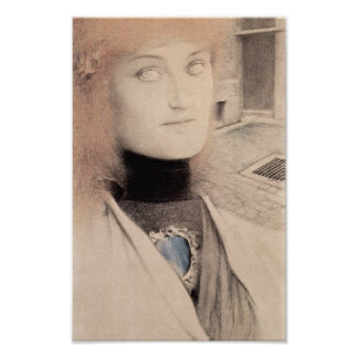 Fernand Khnopff - Who will rescue me? Poster