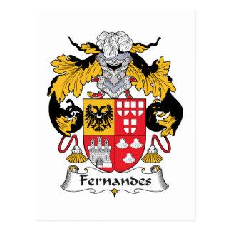 Fernandes Family Crest Postcard