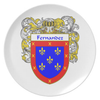Fernandez Coat of Arms/Family Crest Dinner Plate