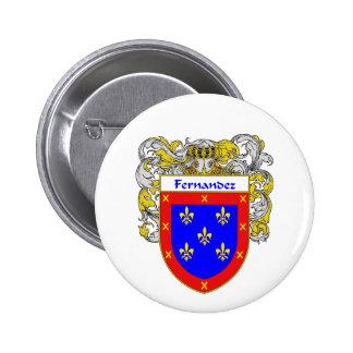 Fernandez Coat of Arms (Mantled) Pinback Button