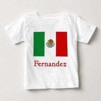 Fernandez Mexican Flag Baby T-Shirt