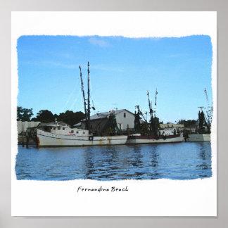 Fernandina Beach Florida Shrimp Boat Poster