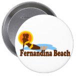 Fernandina Beach. Pinback Buttons