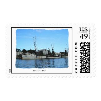 Fernandina Beach Shrimper Florida Postage