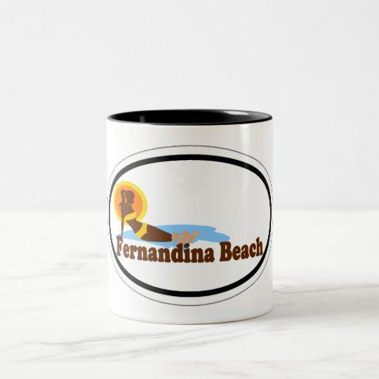 Fernandina Beach. Two-Tone Coffee Mug