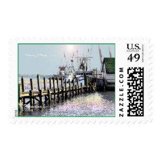 fernandina signed shrimp boats florida postage stamp