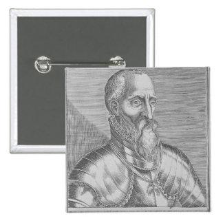 Fernando Alvarez de Toledo, 3ro duque de Alba Pin Cuadrada 5 Cm