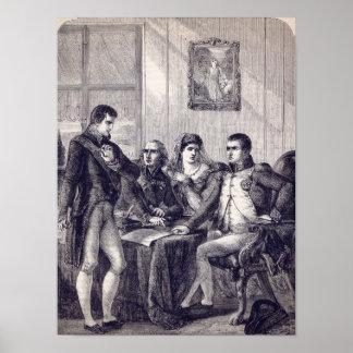 Fernando de España que dimite su corona Póster