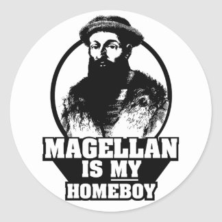 Fernando de Magallanes es mi homeboy Pegatina Redonda