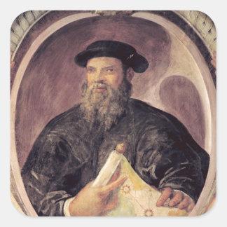 Fernando de Magallanes Calcomanía Cuadrada