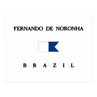 Fernando De Noronha Brazil Alpha Dive Flag Postcard