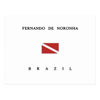 Fernando De Noronha Brazil Scuba Dive Flag Postcard