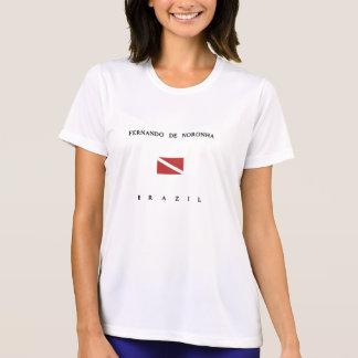 Fernando De Noronha Brazil Scuba Dive Flag Tshirt