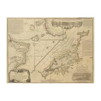 Fernando de Noronha Island Impresiones En Madera