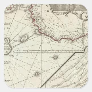 Fernando de Noronha Island Pegatina Cuadrada