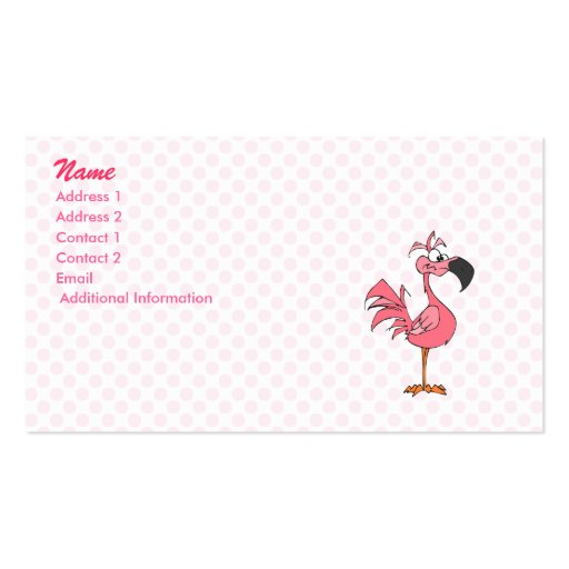 Fernando Flamingo Double-Sided Standard Business Cards (Pack Of 100)