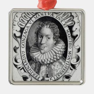 Fernando Gonzaga, duque de Mantua Adorno Cuadrado Plateado