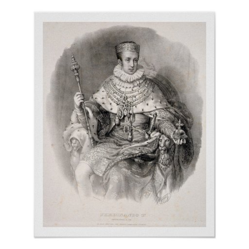 Fernando I (1793-1875), rey de Lombardía-Venetia, Póster