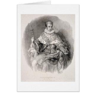 Fernando I (1793-1875), rey de Lombardía-Venetia, Tarjeta De Felicitación
