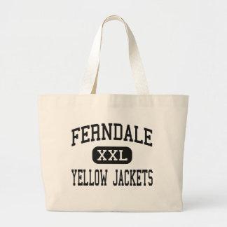 Ferndale - chaquetas amarillas - área - Johnstown Bolsa Lienzo