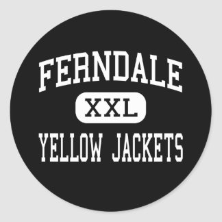 Ferndale - chaquetas amarillas - área - Johnstown Pegatina Redonda