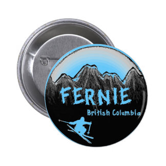 Fernie British Columbia Canada ski Button