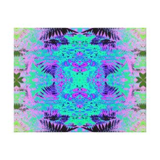 Ferns 2F Blue Fractal Canvas Print