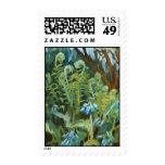 ferns and bluebells postage stamp