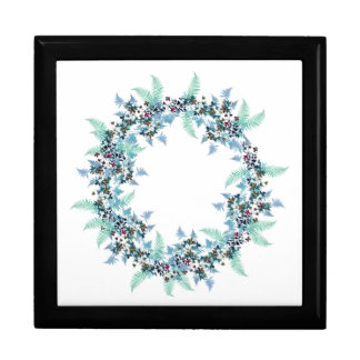 Ferns Clematis Flowers Floral Wreath Gift Box