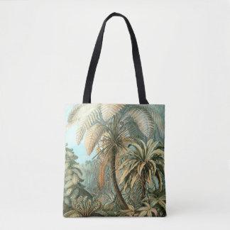 Ferns, Filicinae by Ernst Haeckel, Vintage Plants Tote Bag