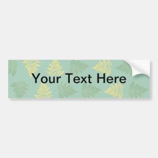 Ferns pattern bumper sticker