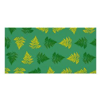 Ferns pattern photo card
