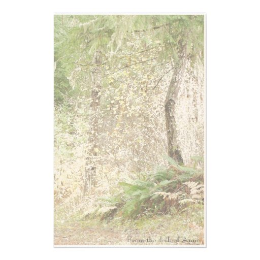 Ferns Trees Personalized Stationery