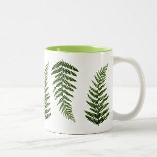 Ferns Two-Tone Coffee Mug
