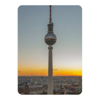 Fernsehturm Berlin, Berlin TV Tower, Germany Card