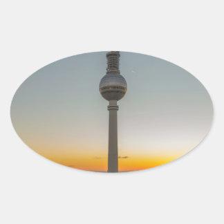 Fernsehturm Berlin, Berlin TV Tower, Germany Oval Sticker