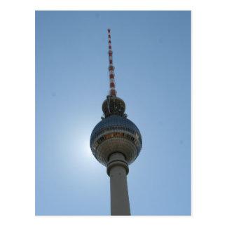 fernsehturm berlin blue postcard