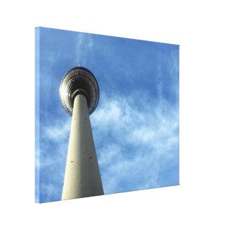 fernsehturm Berlín Impresión En Lienzo