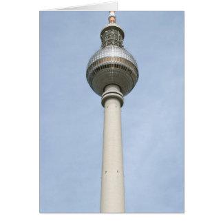 Fernsehturm Berlín Tarjeta De Felicitación