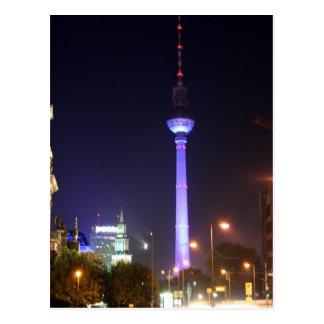 Fernsehturm berlinés tarjeta postal