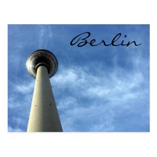 fernsehturm blue berlin postcard