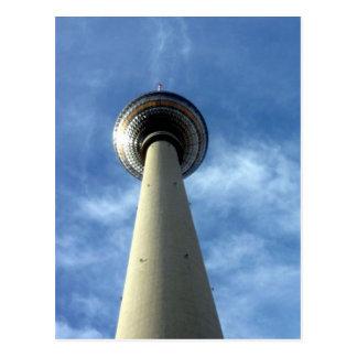 fernsehturm blue sky postcard