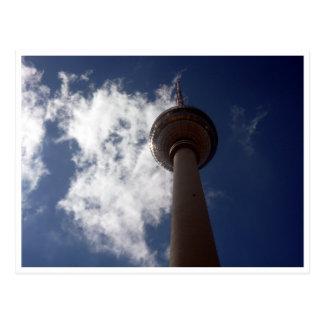 fernsehturm clouds postcard