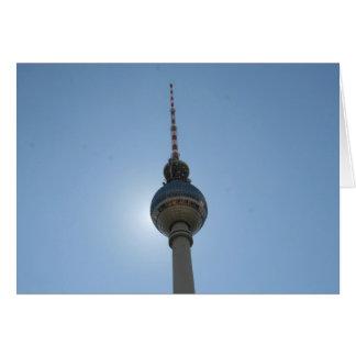 fernsehturm de Berlín Tarjeta De Felicitación