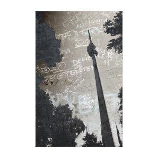 Fernsehturm de Stuttgart especie póster Impresiones En Lona Estiradas