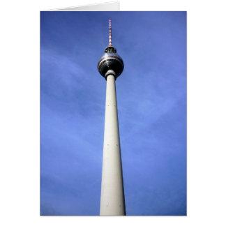 fernsehturm del este de Berlín Tarjeta De Felicitación