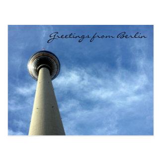 fernsehturm greetings postcard