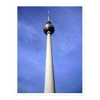 fernsehturm sky blue postcard