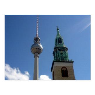 fernsehturm spire postcard