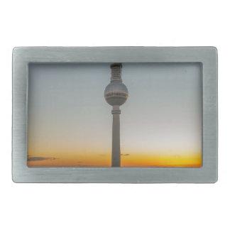 Fernsehturm torre de Berlín, Berlín TV, Alemania Hebillas Cinturon Rectangulares